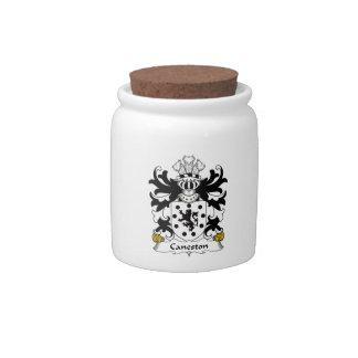 Escudo de la familia de Caneston Jarra Para Caramelo