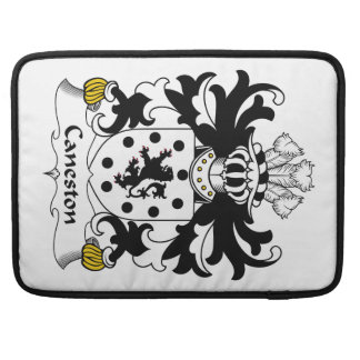 Escudo de la familia de Caneston Fundas Para Macbooks