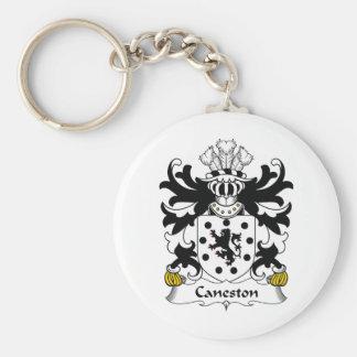 Escudo de la familia de Caneston Llavero Redondo Tipo Pin