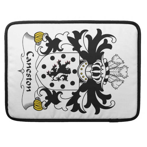 Escudo de la familia de Caneston Fundas Macbook Pro