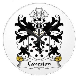 Escudo de la familia de Caneston Reloj De Pared