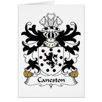 Escudo de la familia de Caneston Tarjeta De Felicitación