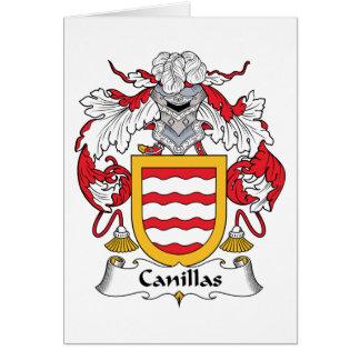 Escudo de la familia de Canillas Tarjeta De Felicitación