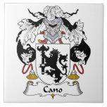 Escudo de la familia de Cano Azulejo