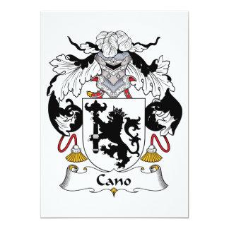 Escudo de la familia de Cano Invitación 12,7 X 17,8 Cm
