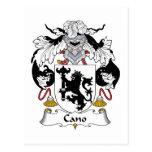 Escudo de la familia de Cano Postal