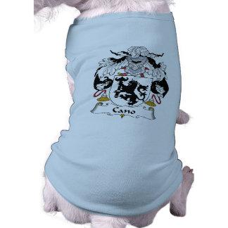 Escudo de la familia de Cano Playera Sin Mangas Para Perro