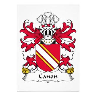 Escudo de la familia de Canon Invitaciones Personales