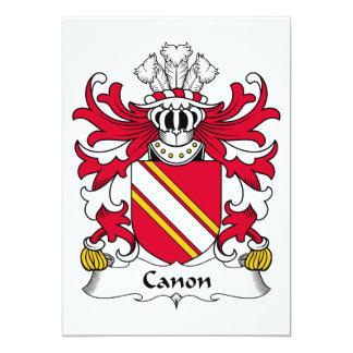Escudo de la familia de Canon Invitación 12,7 X 17,8 Cm