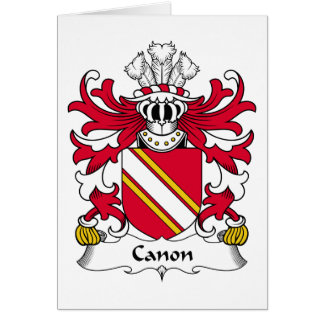Escudo de la familia de Canon Tarjeton
