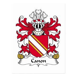 Escudo de la familia de Canon Postal