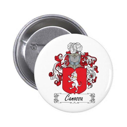 Escudo de la familia de Canossa Pin Redondo De 2 Pulgadas