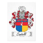 Escudo de la familia de Cantelli Invitacion Personalizada