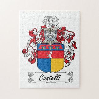 Escudo de la familia de Cantelli Rompecabezas Con Fotos