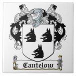 Escudo de la familia de Cantelow Azulejo Ceramica