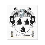 Escudo de la familia de Cantelow Lona Envuelta Para Galerias