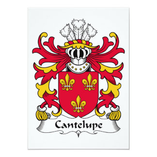 Escudo de la familia de Cantelupe Invitación 12,7 X 17,8 Cm
