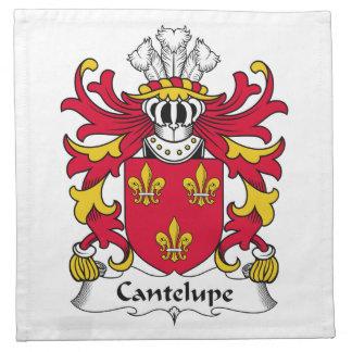 Escudo de la familia de Cantelupe Servilleta Imprimida