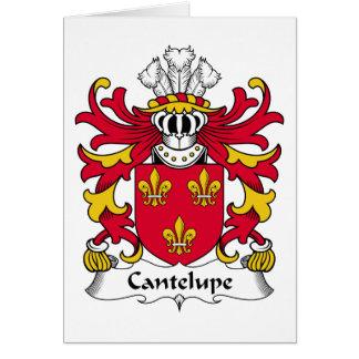 Escudo de la familia de Cantelupe Tarjeta De Felicitación