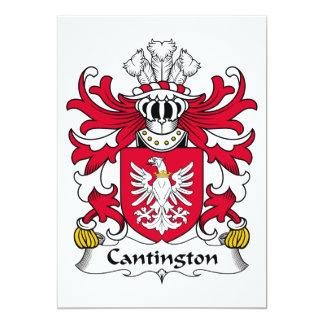 Escudo de la familia de Cantington Invitación 12,7 X 17,8 Cm