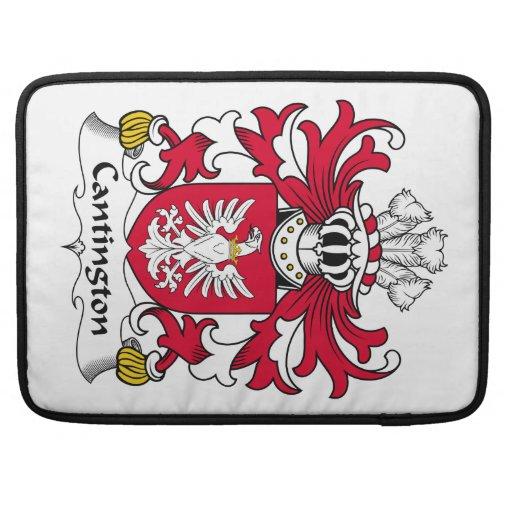 Escudo de la familia de Cantington Funda Para Macbook Pro