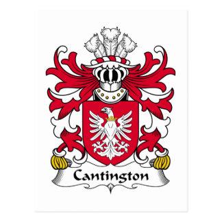 Escudo de la familia de Cantington Postal