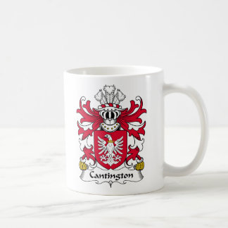 Escudo de la familia de Cantington Taza
