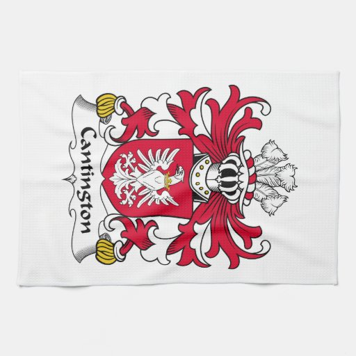 Escudo de la familia de Cantington Toallas De Mano