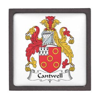 Escudo de la familia de Cantwell Caja De Recuerdo De Calidad