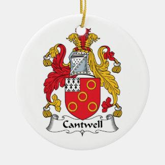 Escudo de la familia de Cantwell Ornaments Para Arbol De Navidad