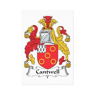 Escudo de la familia de Cantwell Impresión En Lona