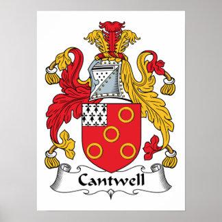 Escudo de la familia de Cantwell Impresiones