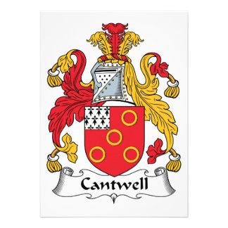 Escudo de la familia de Cantwell Invitacion Personalizada