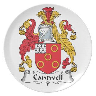 Escudo de la familia de Cantwell Plato De Cena