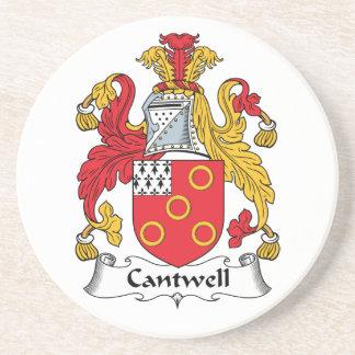 Escudo de la familia de Cantwell Posavasos Diseño