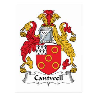 Escudo de la familia de Cantwell Postales