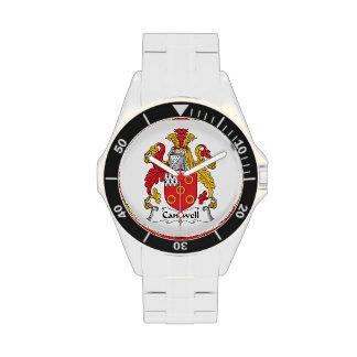 Escudo de la familia de Cantwell Reloj