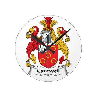 Escudo de la familia de Cantwell Relojes