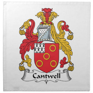 Escudo de la familia de Cantwell Servilletas Imprimidas