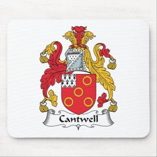 Escudo de la familia de Cantwell Tapetes De Ratones