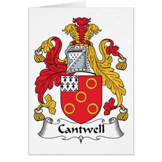 Escudo de la familia de Cantwell Tarjetas