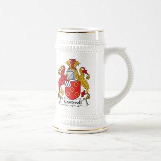 Escudo de la familia de Cantwell Tazas De Café