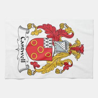 Escudo de la familia de Cantwell Toalla De Mano