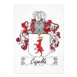 Escudo de la familia de Capella Invitacion Personal