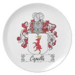 Escudo de la familia de Capella Plato De Cena