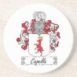 Escudo de la familia de Capella Posavasos Para Bebidas