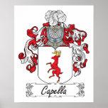 Escudo de la familia de Capella Poster