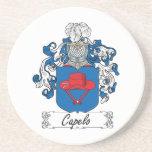 Escudo de la familia de Capelo Posavasos Personalizados