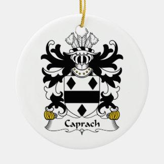 Escudo de la familia de Caprach Adorno Navideño Redondo De Cerámica