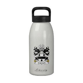 Escudo de la familia de Caprach Botellas De Beber